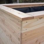 Hochbeet Abschluss mit Holzkranz