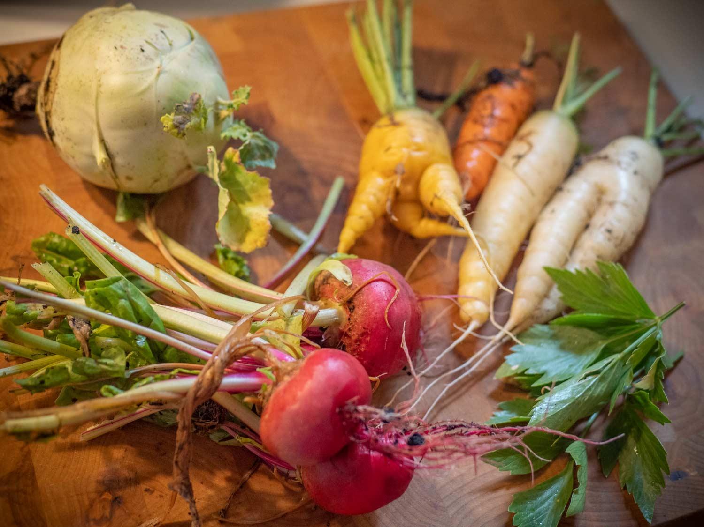 Gemüseernete aus dem Hochbeet